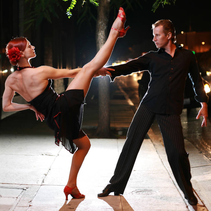 Para tańcząca Discofox